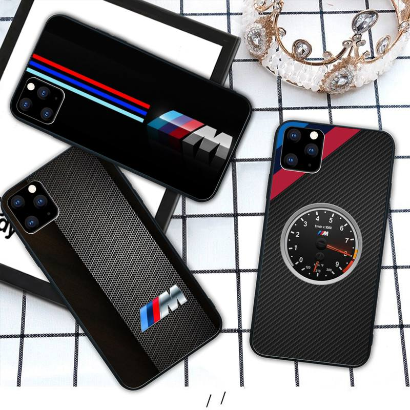Hot Car BMW M Logo VIP Silicone black case coque for iphone se 2020 6 6s 7 8 plus x xs max xr 11 12 pro max cover image