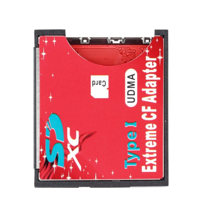 Newly Professional SD To CF Card Adapter SDHC SDXC To 3.3mm Standard Compact Flash Type I Memory Card Reader Converter