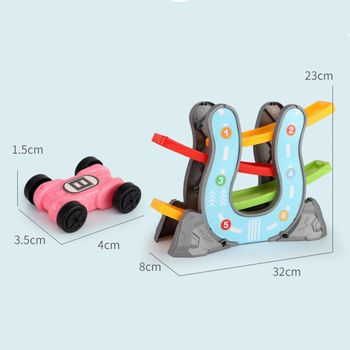 Toddler Toys For 1 2 Year Old Boy And Girl Gifts Race Track Car Ramp Racer image