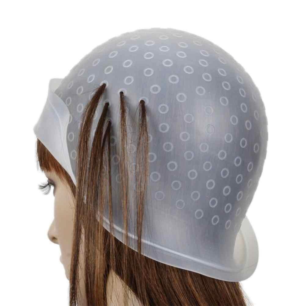 1 Set Dapat Digunakan Kembali Rambut Mewarnai Menyoroti Pewarna Cap dengan Kait Pembekuan Tip Styling Warna Alat Profesional Grosir