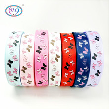 HL 1(25mm) 5 Meters/lot Printed Butterfly Grosgrain Ribbons Wedding Party Decorative Gift Wrapping DIY Chilren Hair Accessories 6yards lot mix printed trim geometric ribbons diy wrapping wedding party hair bow decoration art sewing accessories 040054006