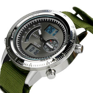 Amst Mens Watches Military Top-Brand Sport Waterproof Quartz Nylon 50m Band Masculino