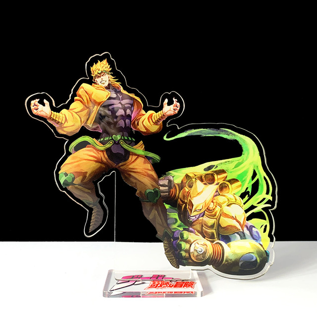 16cm JOJO JOJO's Bizarre Adventure Kakyoin Noriaki Polnareff dio acrylic stand figure model plate holder cake topper anime cool 2