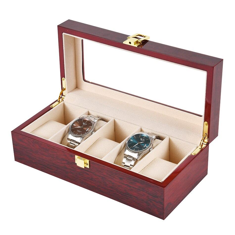 12 slots caixa de relógio armazenamento com
