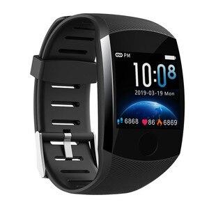 Image 2 - Q11 סופר ארוך המתנה חכם שעון לחץ דם קצב לב צג כושר צמיד גברים נשים Smartwatch PK Q9