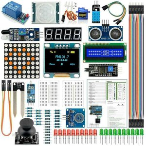 Arduino Kit Module Sensor With 0.96inch OLED 1602 LCD Display Relay Servo Motor DHT11 For Starter Projects(English Tutorial)