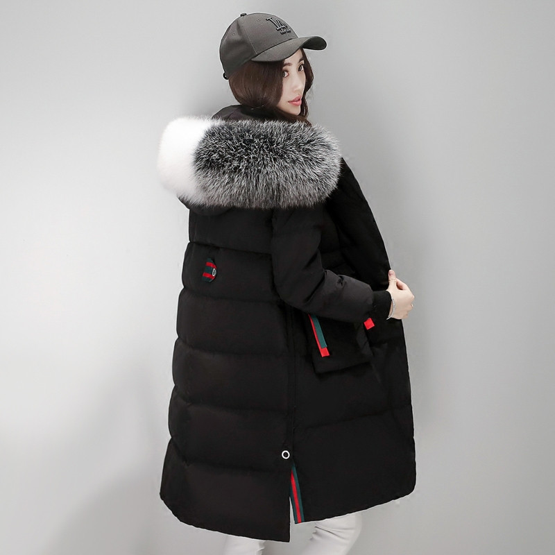 2020 Parka New Style Women's Winter Coat White Duck Down Jacket Women Hooded Artificial Fur Collar Coats Casacos WXF176