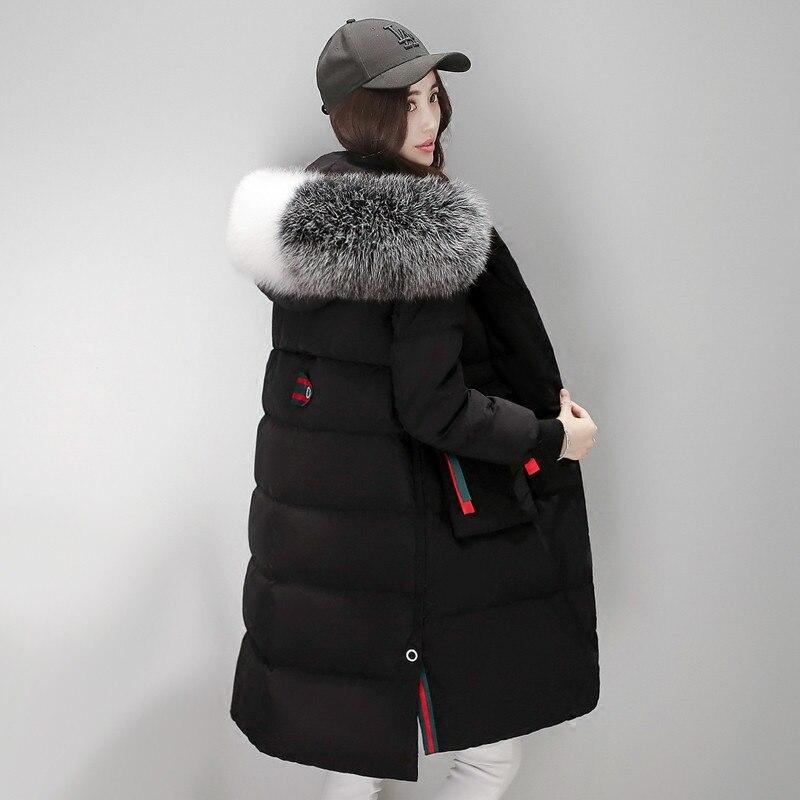 2020 Parka New Style Women's Winter Coat White Duck Down Jacket Women Hooded Artificial Fur Collar Coats Casacos WXF176