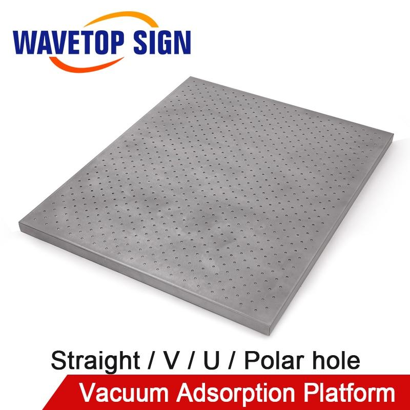 WaveTopSign Vacuum Adsorption Platform Straight Hole V Hole U Hole Polar Hole Use For CNC Laser Cutting Machine
