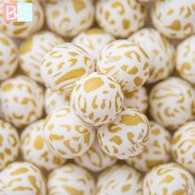 10 шт силиконовые бусины 12/15 мм круглый Леопардовый принт
