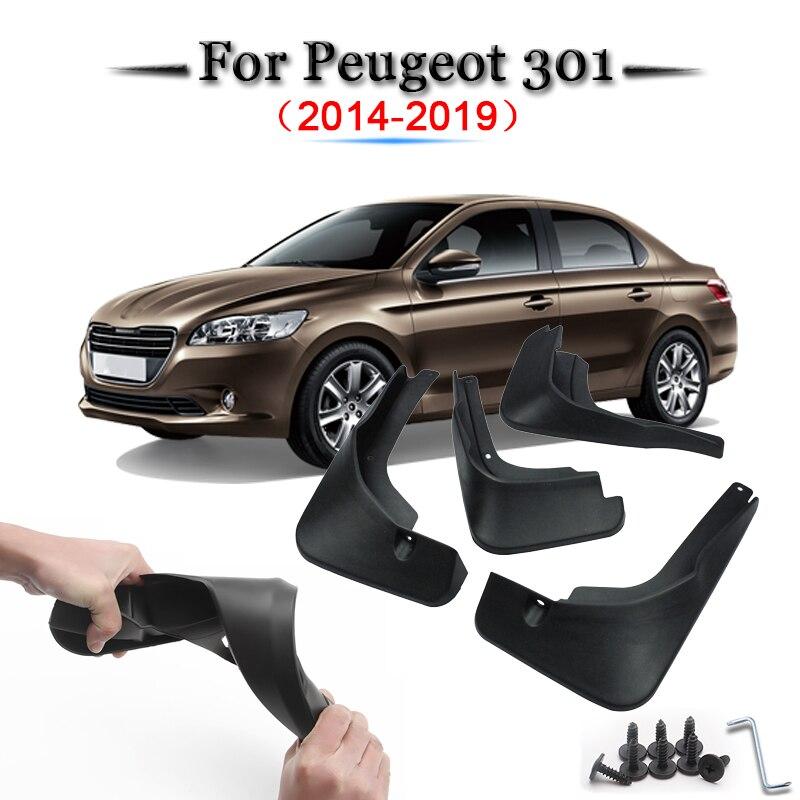 POUR PEUGEOT 308 II tous les modèles Bavettes anti-projections 4 pièces à partir de 2014