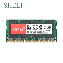 SHELI New Notebooks Memory 8GB 2RX8 PC3-10600S DDR3 1333MHZ SO-DIMM 204pin CL9 Laptop Memory цена