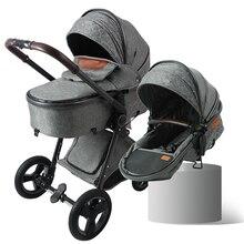 Luxxmom коляска детская 2 в 1 высокая Ландшафтная коляска EVA большие колеса амортизатор luxmomv9 ускоренная доставка удобный возврат