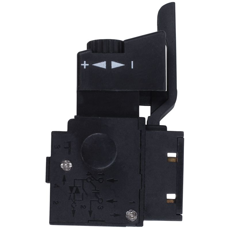 Best <font><b>FA2</b></font>-<font><b>6</b></font>/<font><b>1BEK</b></font> SPST Lock on Power Tool Trigger Button Switch Black image