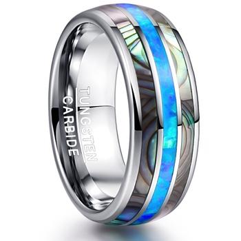 Hot-sprzedaży moda proste etui inkrustowane wolframu złoty pierścień niebieski Opal męska pierścionek zaręczynowy męska kreatywna biżuteria tanie i dobre opinie CN (pochodzenie) Ze stopu cynku Mężczyźni Metal TRENDY Obrączki ślubne ROUND Other(Other) Zgodna ze wszystkimi Poprawiające nastrój
