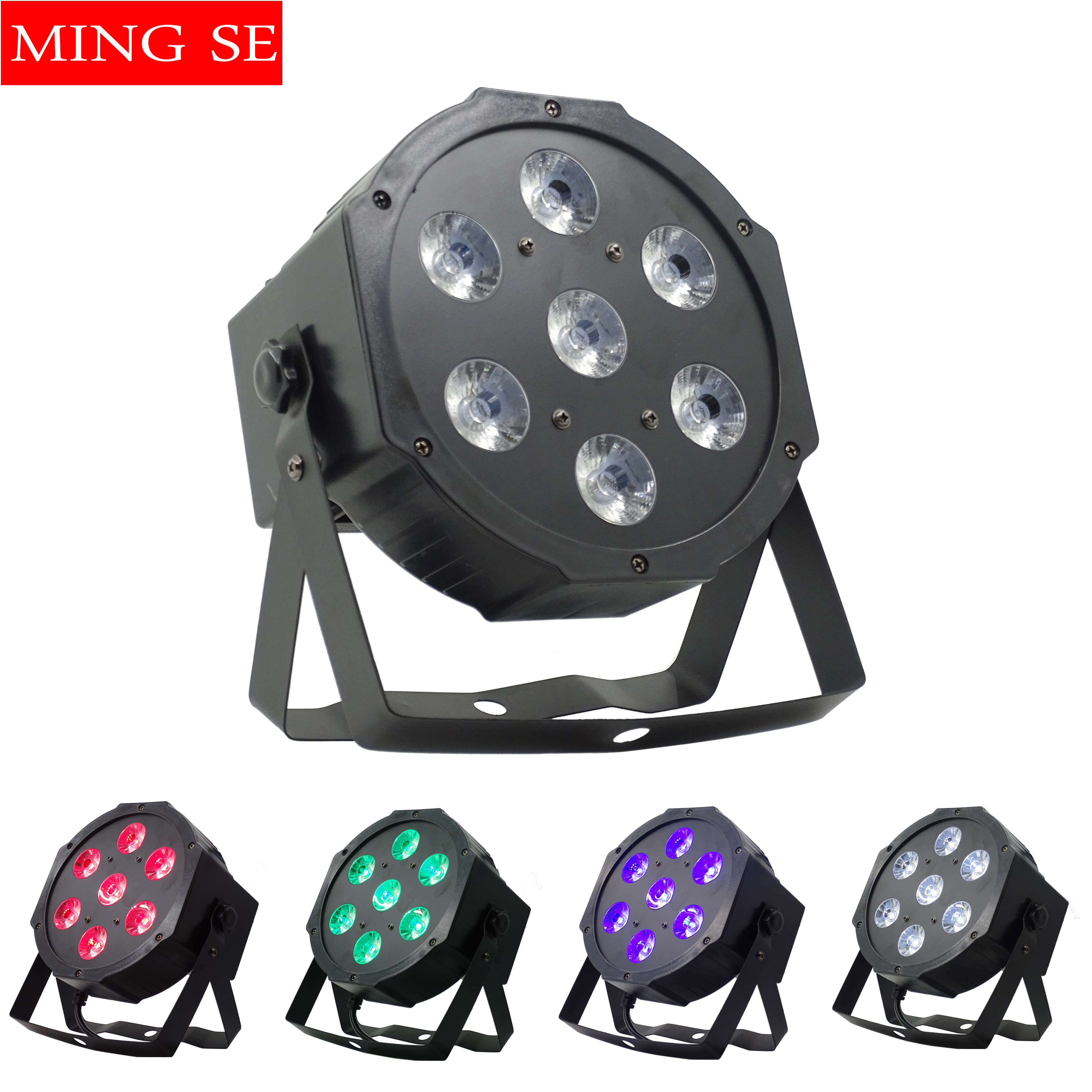 7*12W RGBW 4in1 Par Light Disco Stage Dyeing Lamp DJ Bar Wedding Lights 7x12w 4in1 7x18w RGBWA UV 6in1