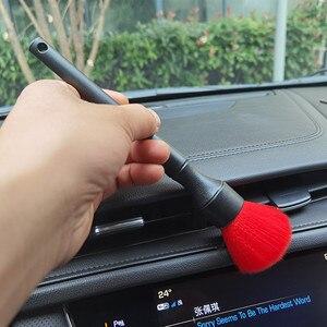 Image 5 - Escova macia do detalhe do interior do automóvel super macio da escova de detalhe ultra macio com escova sintética do espanador do traço do carro das cerdas