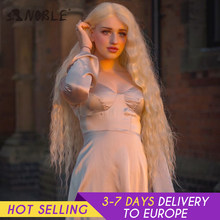 Noble Cosplay Perruque Lace Frontal synthétique Cheveux Longs Cosplay Cheveux Bouclés 42 Puces Ombre Blonde Perruque Lace Frontal Pour les Femmes