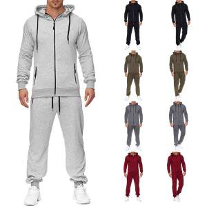 Sweatshirt Sets Tracksuit Hooded-Top-Pants Print Zipper Men's Fashion Nice Autumn Pop-Products