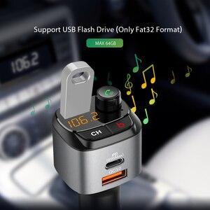 CDEN Автомобильный mp3 музыкальный плеер Bluetooth 5,0 приемник u-диск сабвуфер музыкальный fm-передатчик QC3.0 PD18W Быстрая зарядка USB Автомобильное заря...