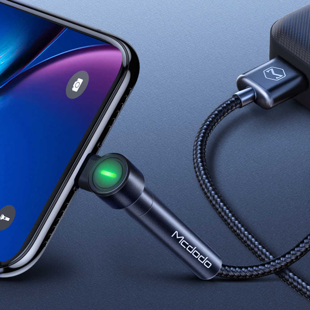 MCDODO 1.8m Fast USB Cable For iPhone XS MAX XR X 8 7 6s Plus 5 LED Charging Holder Cable Mobile Phone Charger Data Cord Charge