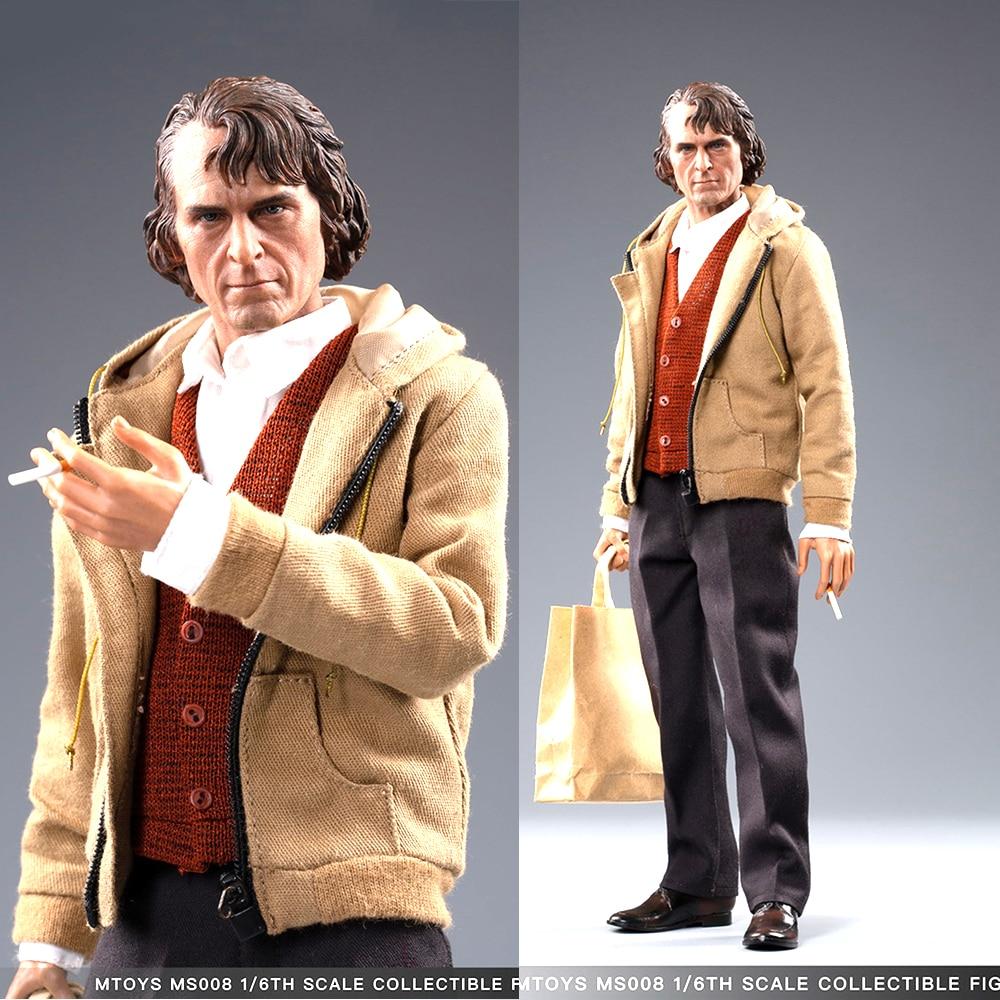Full Set In Stock MTOYS MS008 1/6 ClownThe Joker Arthur Fleck Joaquin Casual Wear Ver. Figure Toy 12