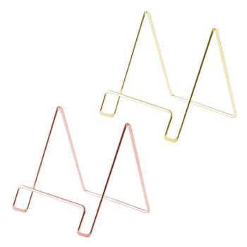 Kreatywny geometryczny stojak do przechowywania prosty kutego żelaza organizator uchwyt stojak na książki tanie i dobre opinie OOTDTY iron Bookends