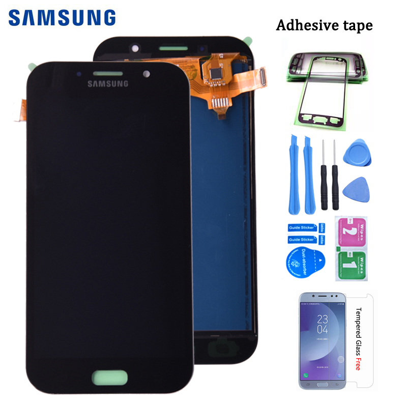 For Samsung Galaxy A7 2017 A720 A720F SM-A720F  LCD Display + Touch Screen Digitizer Assembly Free Shipping
