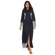 Women's Casual Lace Lapel Long Sleeve Dress Autumn Dresses Womens Long Sleeve Dress Loose Casual Plain Cotton Dress Plus Size XL цена 2017