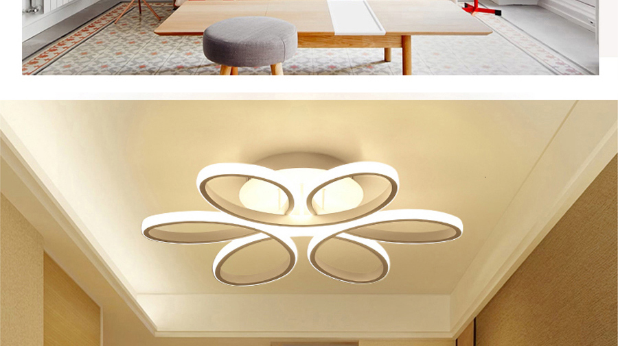 H3d588fefdbf544969a79a517a0154f8aX Living room ceiling lamp led dimmable for bedroom aluminum body indoor lighting fixture plafonnier led lights dining room
