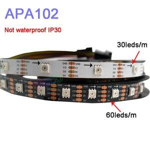 Image 1 - 5m/lot APA102 Smart led pixel strip light;DC5V 30/60 leds/pixels/m;DATA and CLOCK seperately;IP30/IP65/IP67;SK9822 led strip