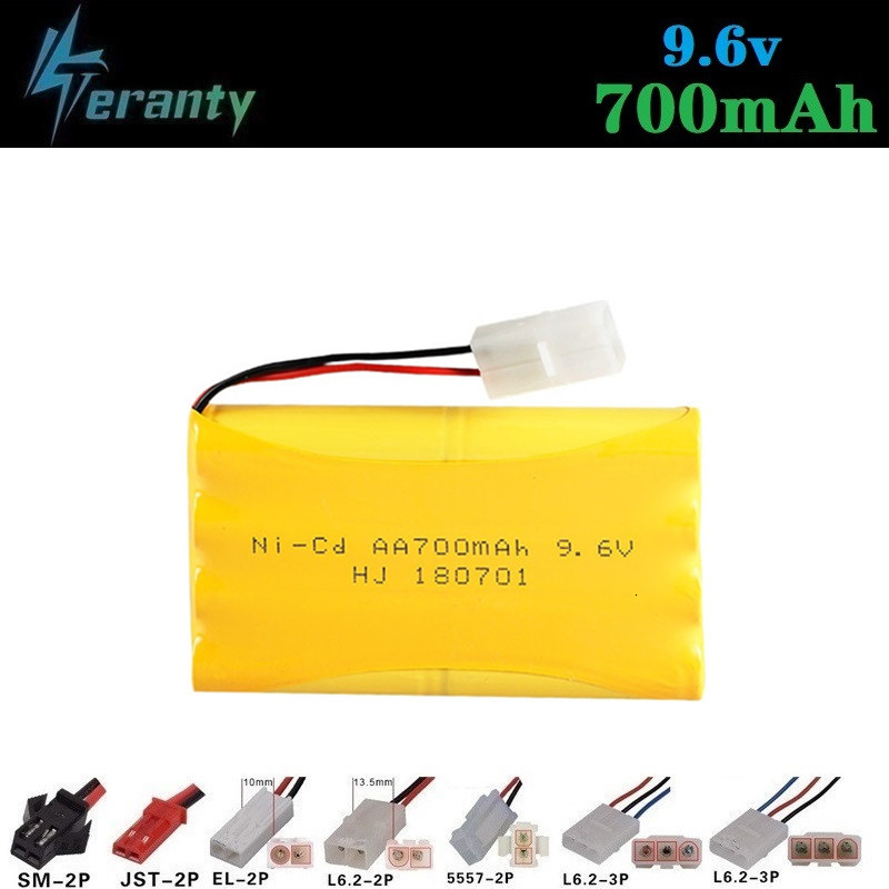 700mah 9.6v Rechargeable Battery For Rc Toys Cars Tanks Robots Gun NiCD Battery AA 9.6v 700mah Batteries Pack For Rc Boat 1PCS