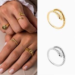 Marka ROXI Vintage Snake kobiety biżuteria pierścionki dla kobiet Anillo 925 srebro osobowość pierścień otwierający Creative Men Ring