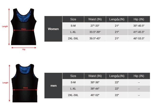 Sweat body Shaper Vest Men Women Gym Fitness Advanced Sweatwear Suit Weight Loss Black Fat Burning Sauna Vest  Dropshipping 5