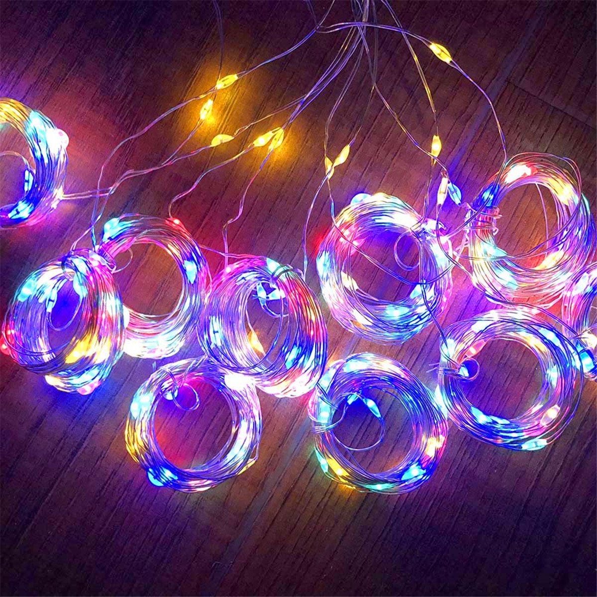 1M/ 2M/3M LED Curtain Lights Christmas Lights String Lights Remote Control USB Fairy Lights Garland Bedroom Home Lighting