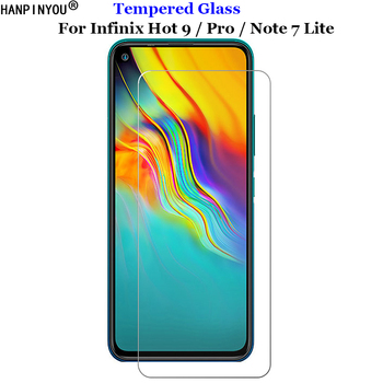 Перейти на Алиэкспресс и купить Для Infinix Hot 9 Hot9 / Pro закаленное стекло 9 H 2.5D Премиум Защитная пленка для экрана для Infinix Note 7 Note7 Lite 6,6дюйм