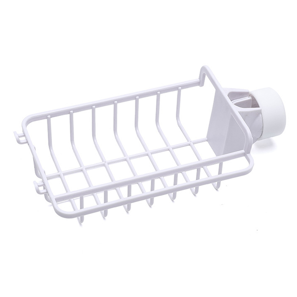 ABS Drying Organizer Faucet Shelf With Hook Dish Drain Kitchen Dishcloth Soap Bathroom Adjustable Storage Rack Sponge
