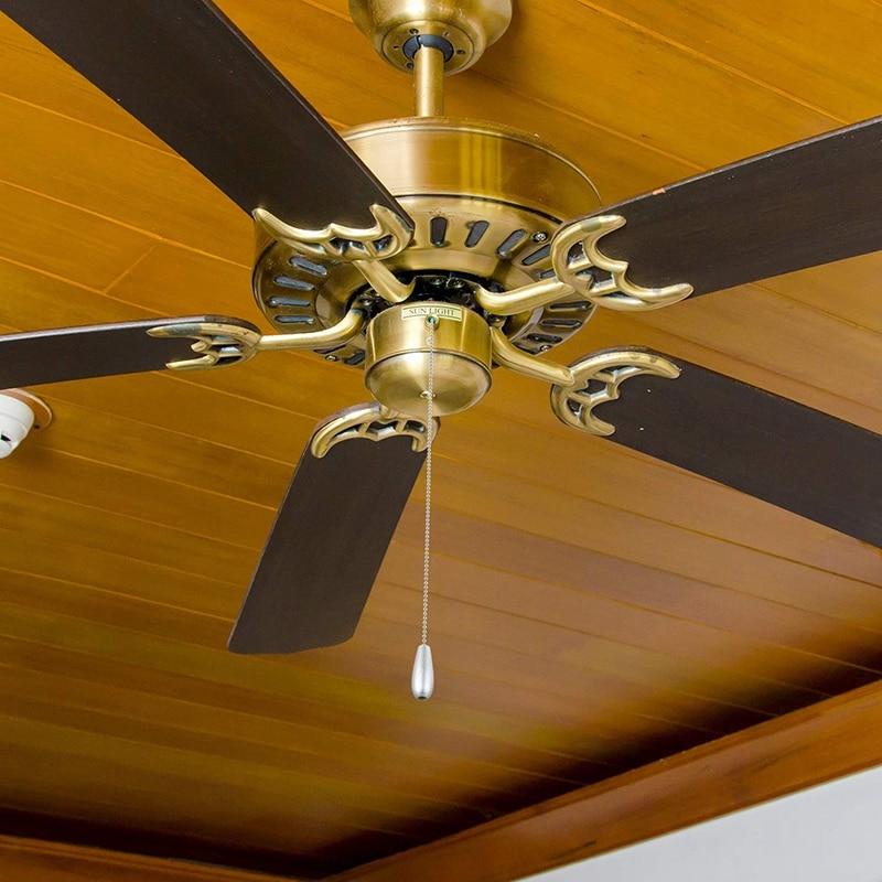 CUHAWUDBA 4 Pieces of Zipper Ceiling Fan with Zipper Extension Fan Zipper Pendant Decoration with Ball Fan Chain