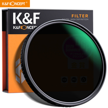 """K&F Concept 55mm 58mm 62mm 67mm 77mm Fader ND Filter Neutral Density Variable Filter ND2 to ND32 for Camera Sony Lens NO""""X"""" Spot"""