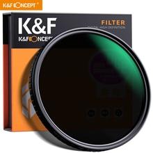 """K & f concept 55mm 58mm 62mm 67mm 77mm fader nd filtro neutro densidade variável nd2 para nd32 para lente sony da câmera no local """"x"""""""