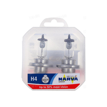 NARVA H4 12 V-60/55 W (P43t) (+ 50% Light) RP50 (N. pack. 2 pcs) 48861 (pu. 2)