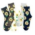 Хит продаж, модные креативные японские носки в стиле харадзюку, короткие носки с подсолнухами на весну, осень и зиму, повседневные цветные х...