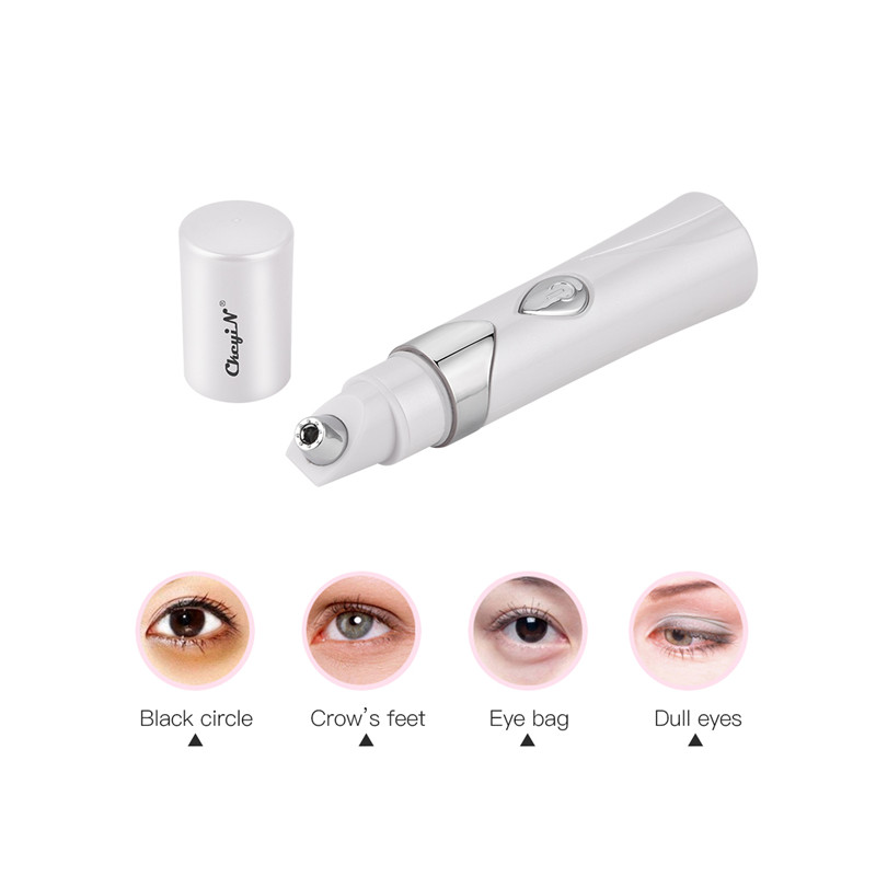 Electric Vibration Eye Massager Roller Mini Laser Face Massage Anti Aging Wrinkle Dark Circles Removal Pen Skin Care Beauty Tool