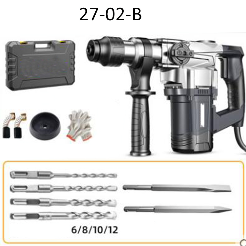 220V 900W Rotary Hammer Electric Demolition Hammer Impact Drill Punch dual-use industrial heavy-duty electric pick