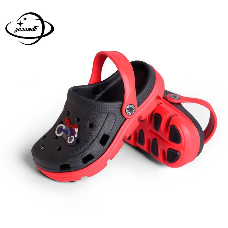 2 18Y Kids Mules & Clogs Summer Boys Girls Croc Sandals Flat Soft Heel Cartoon Beach Non Slip Slippers Children Garden Shoes