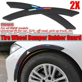 Car Tire Wheel Bumper Rubber Guard For Fender Flare Wheel Arch Eyebrow Protector Lip For BMW E36 E46 E60 E63 E64 E90 E91 E92 E93 image