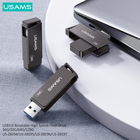 USAMS OTG High Speed USB 3.0 Type C Flash Driver Pendrives For PC Smartphone Flash Drive 16G 32GB 64GB 128GB 256G USB Stick Key
