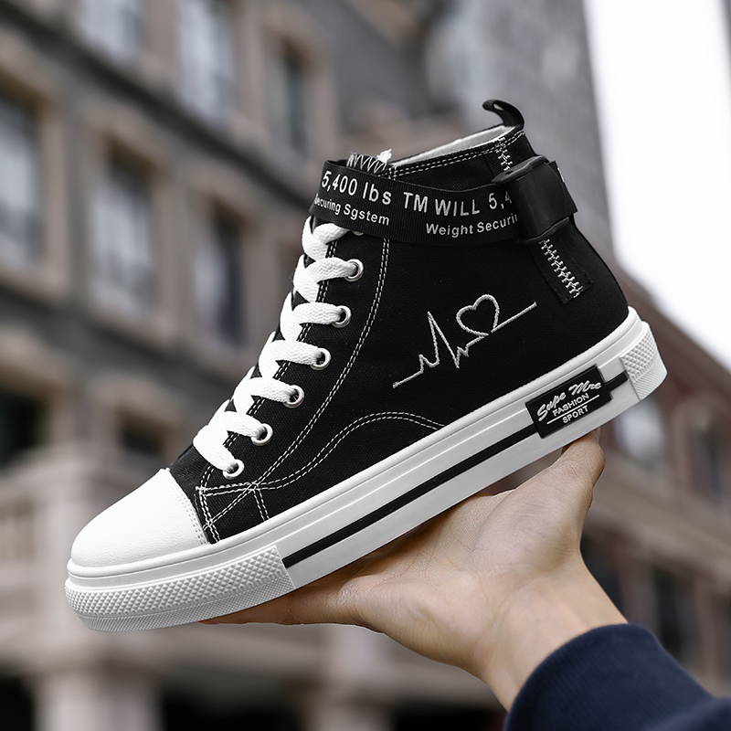 Fashion Mens Vulcanized Sneakers Shoes For Women Lace-up Casual Shoes Breathable Hip Hop Canvas Shoes Men Dropshipping AODLEE