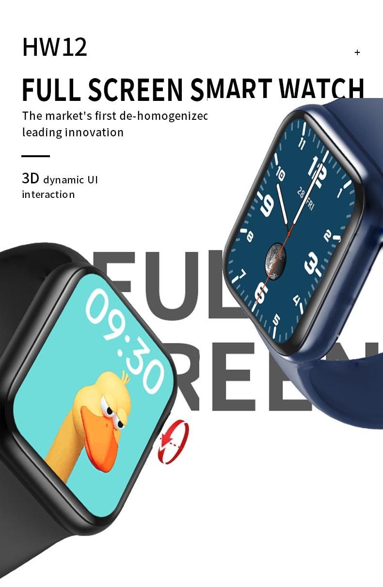 H3d5974731d5d4f5db894de34d6574240G LONGET Original HW12 Smart Watch 40mm 320*320 Bluetooth call Blood oxygen waterproof smartwatch PK HW16 W56 W46 W26 IWO 6
