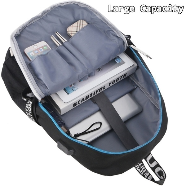 Image 5 - Stranger Things Teenage Backpack for Boys Girls Luminous School Bag USB charging Anti theft and Waterproof backpack for school-in Backpacks from Luggage & Bags